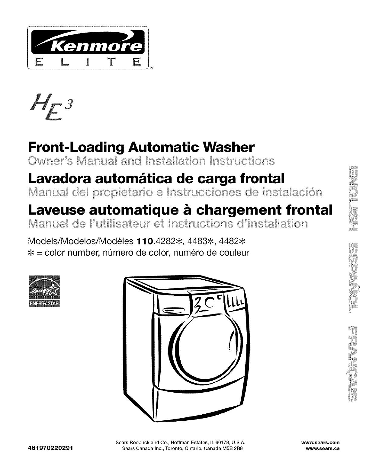 kenmore elite 11042822202 user manual automatic washer horizontal rh usermanual wiki Kenmore Washer Repair Manual kenmore elite owners manual refrigerator