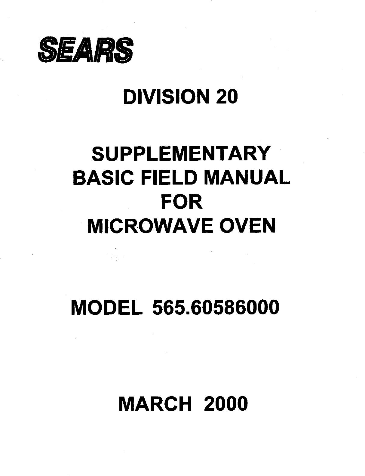 Kenmore Elite 56560586000 User Manual