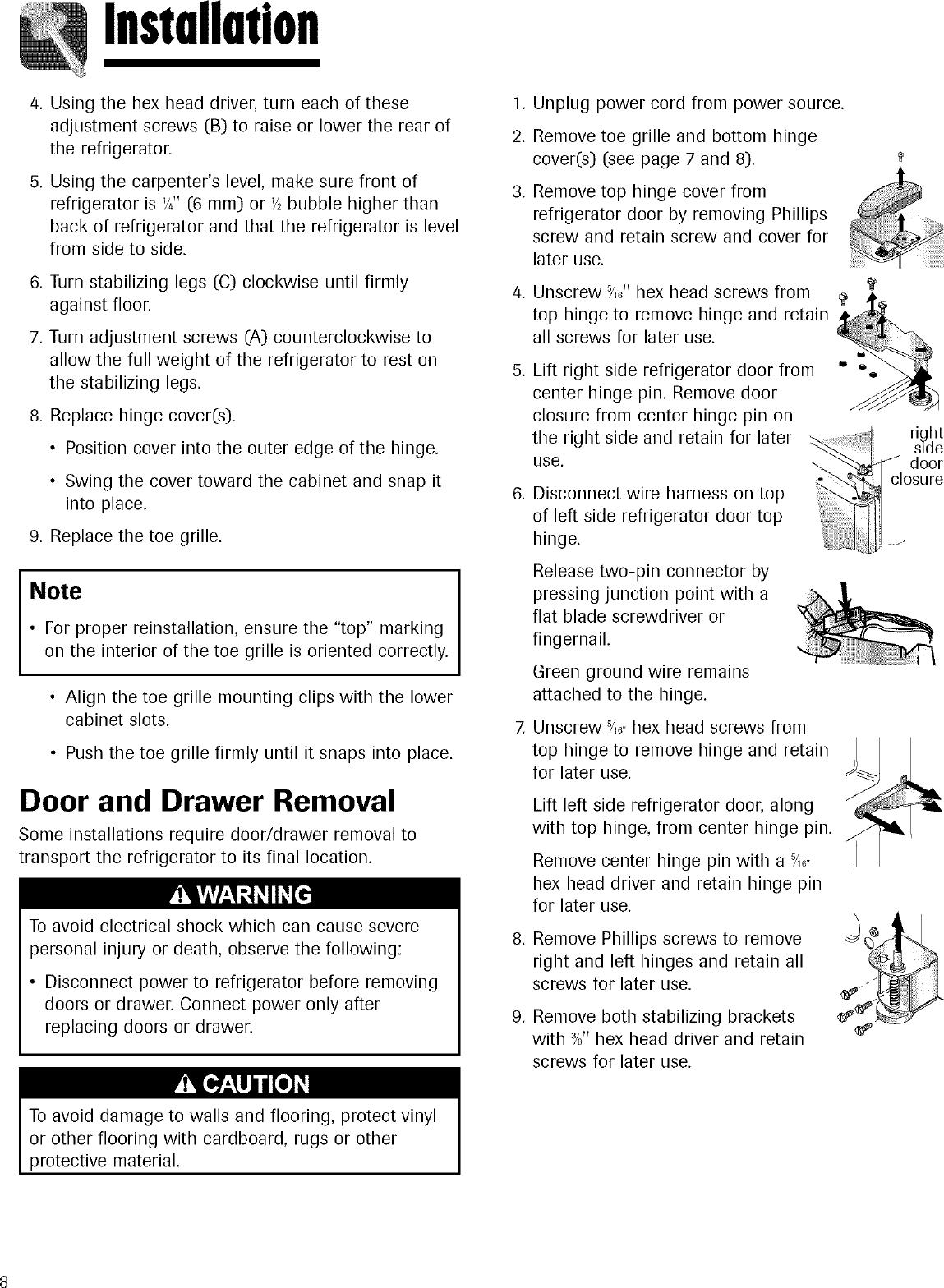 Kenmore Elite 59675522400 User Manual REFRIGERATOR Manuals