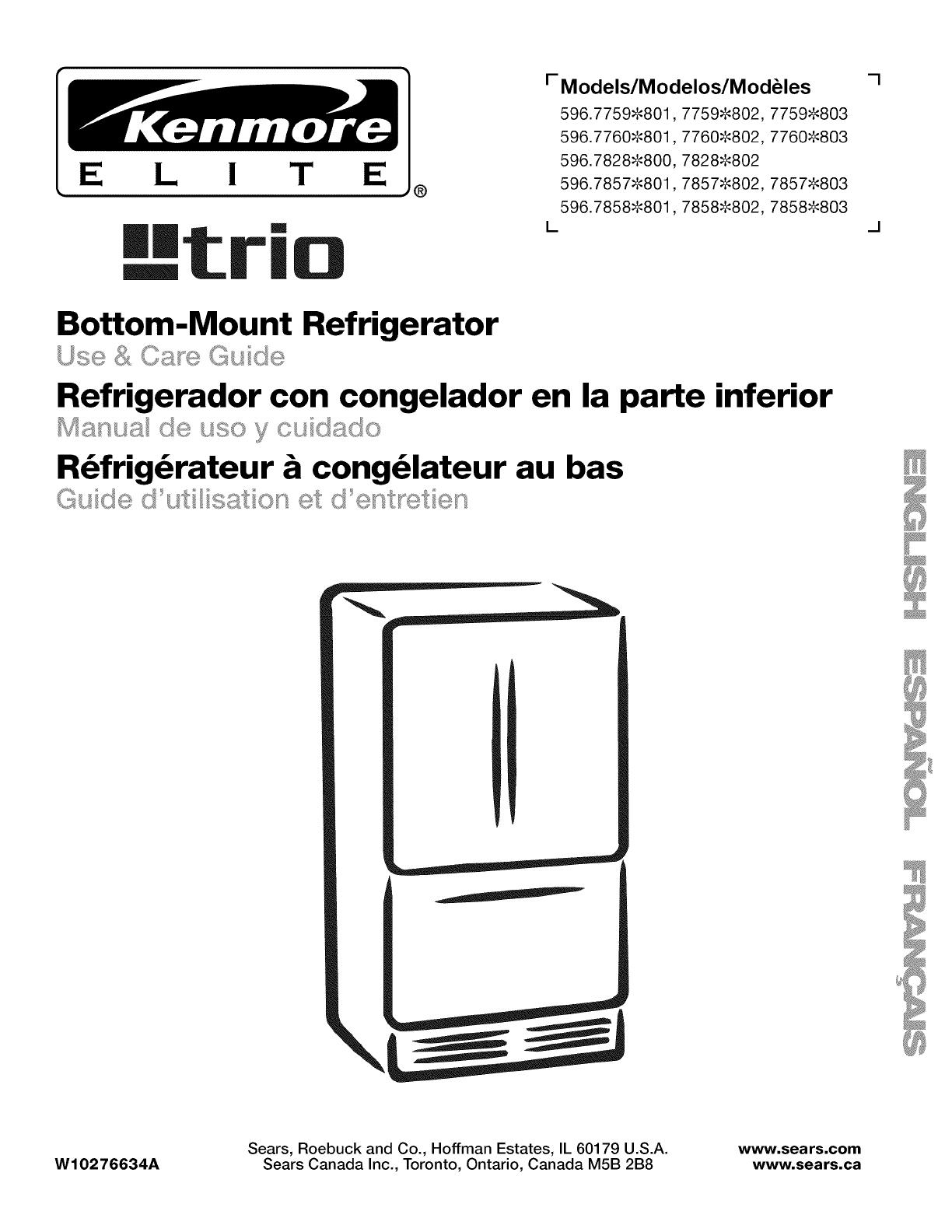 Kenmore réfrigérateur eau branchement