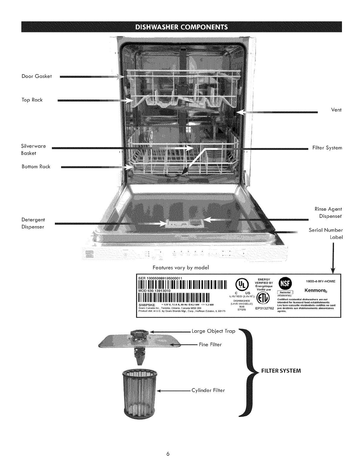 Kenmore Elite 63013903012 User Manual Dishwasher Manuals And Guides Parts Diagram List For Model 59677599802 Kenmoreeliteparts 1007373l