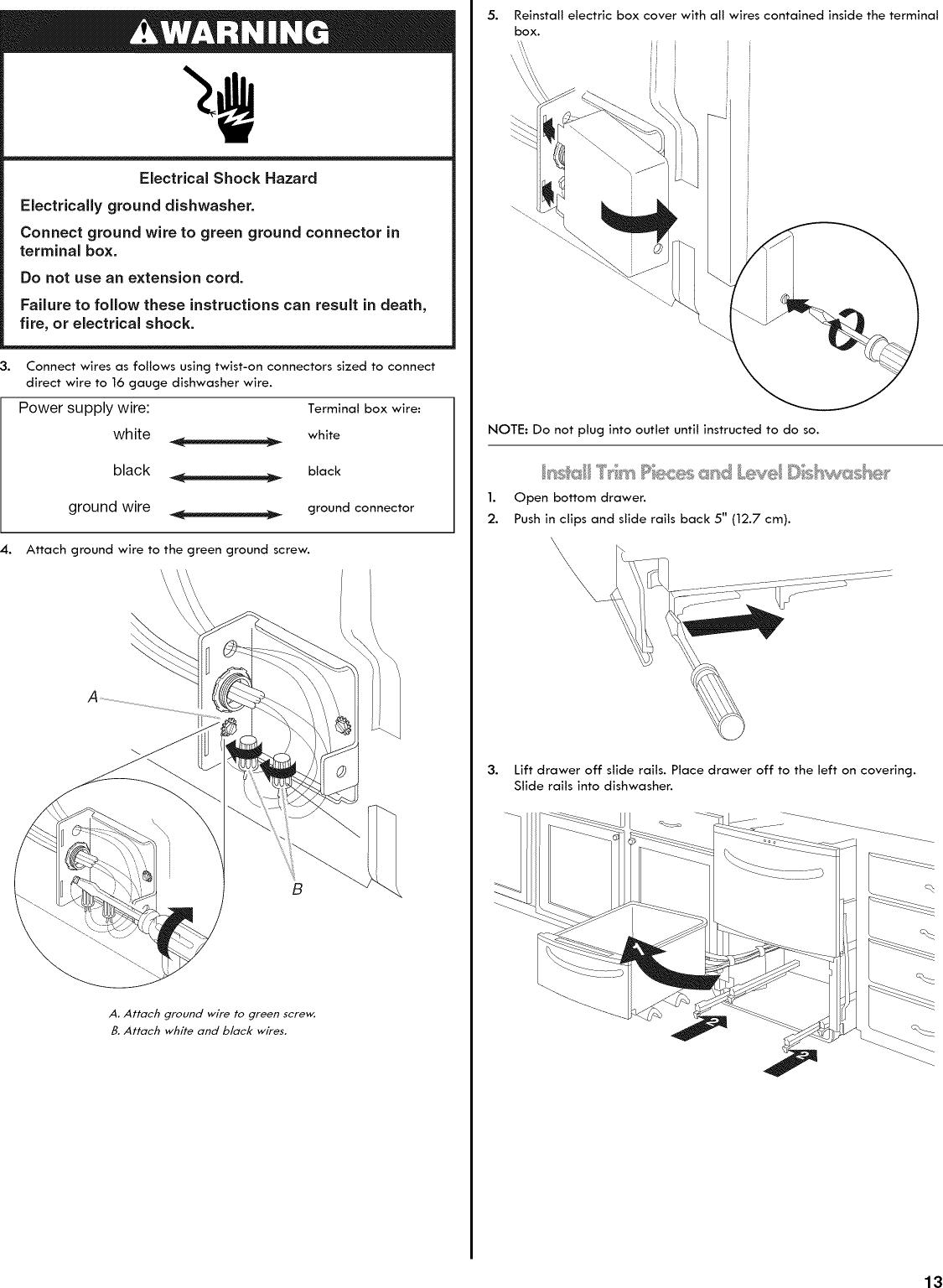 Dishwasher Kenmore Elite Manual Mdb6000awa Wiring Information Parts Diagram Page 13 Of 44 665133426 User Drawer Manuals And Guides