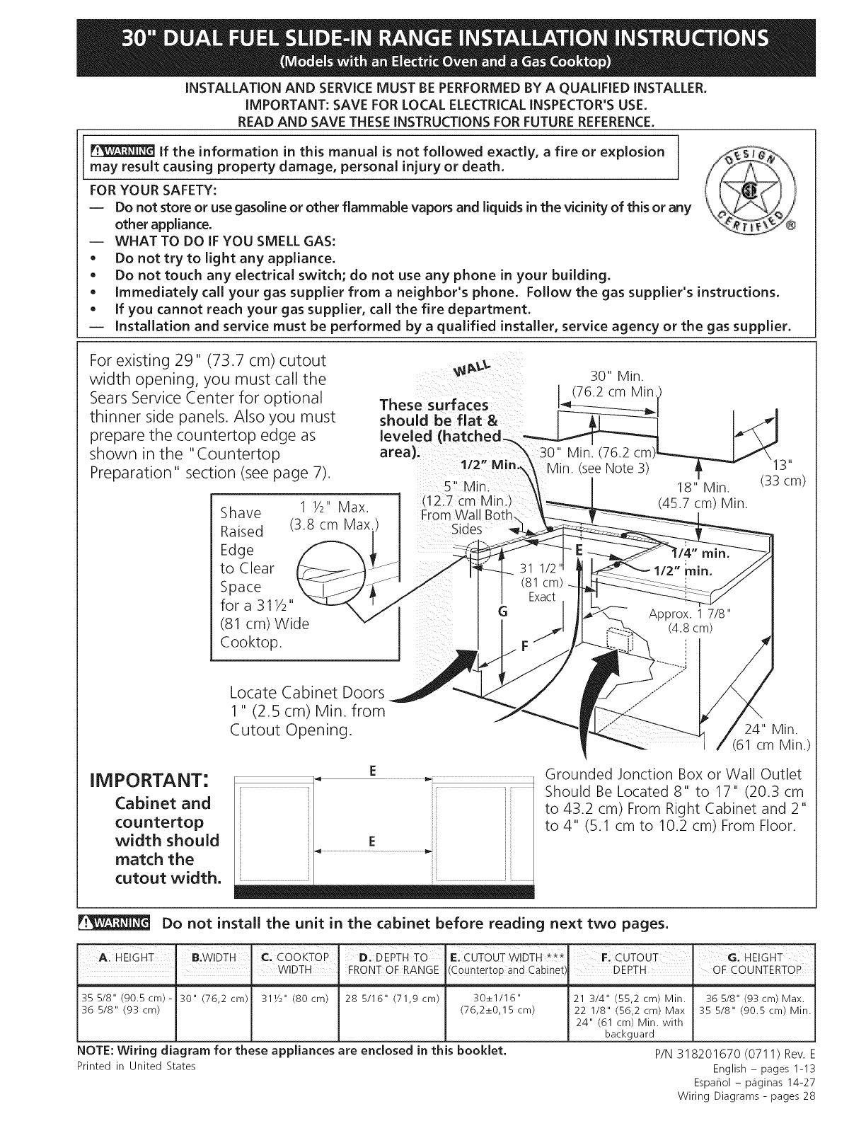 Kenmore Elite 79041013803 User Manual Electric Range Manuals And Guides L0810109