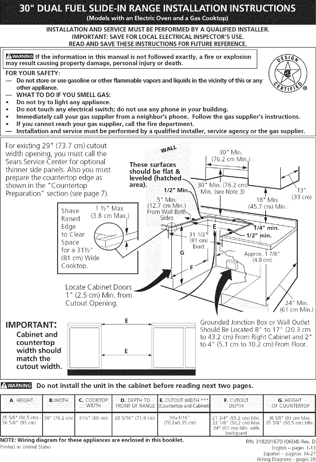 Kenmore Elite 79046629505 User Manual Dual Fuel Range Manuals And Wiring Diagram Guides L0608694