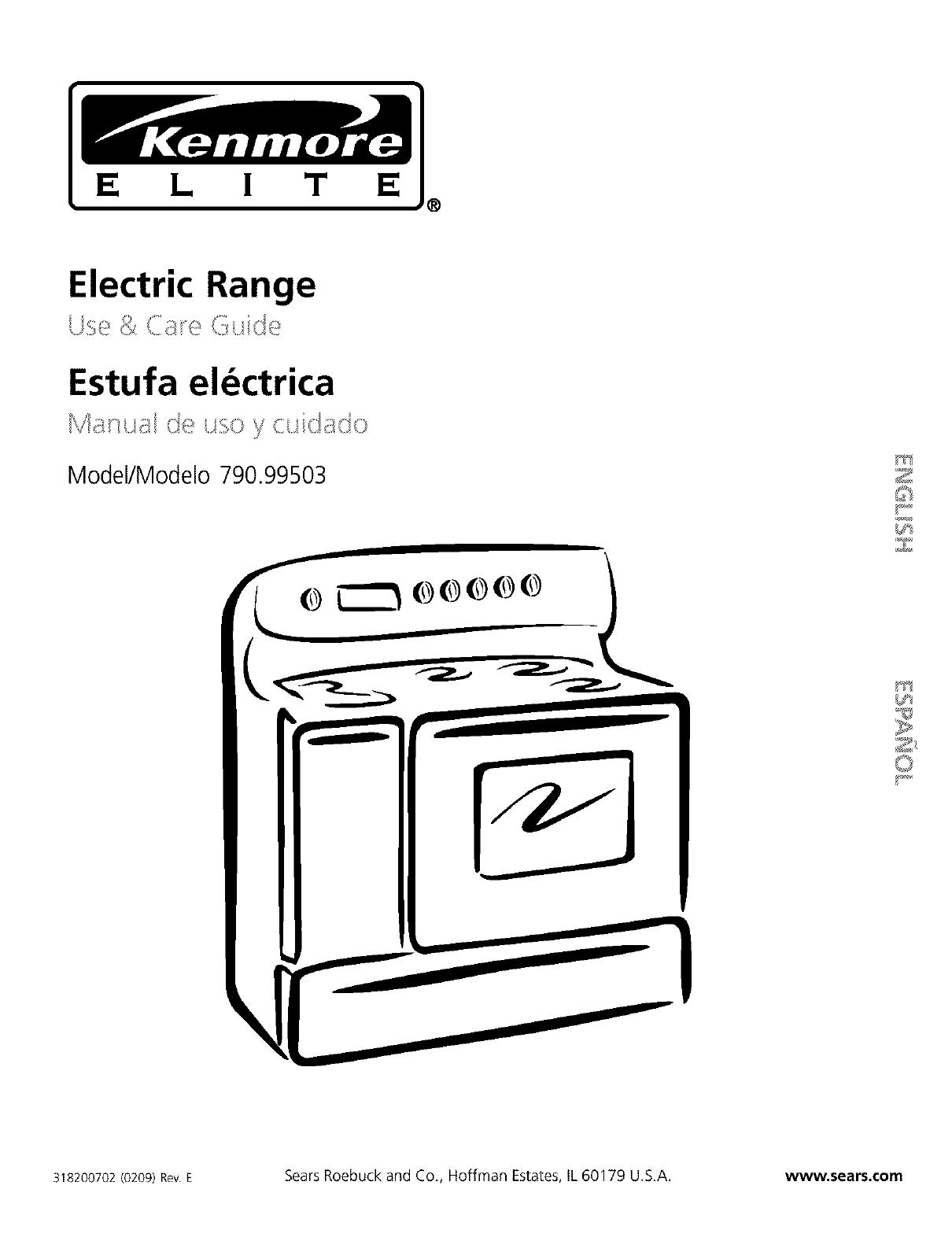 Kenmore Elite 79099503994 User Manual Electric Range Manuals And Guides L0302115