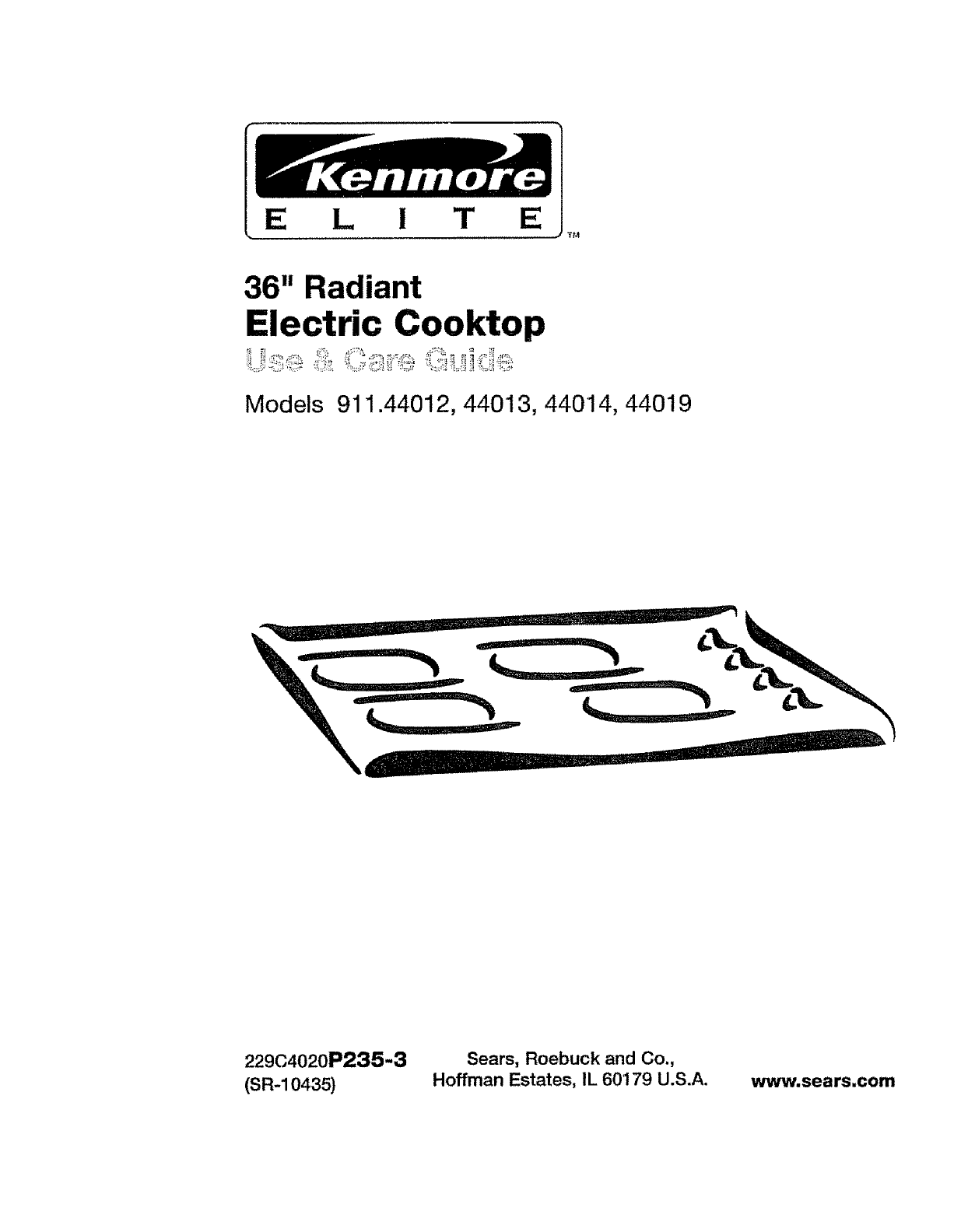 b1ebe103bf4f Kenmore Elite 91144012990 User Manual ELECTRIC COOKTOP Manuals And ...