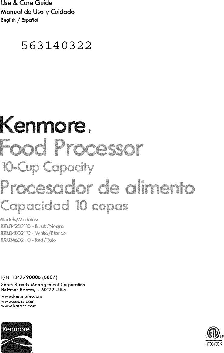 kenmore 10004202110 user manual food processor manuals and guides