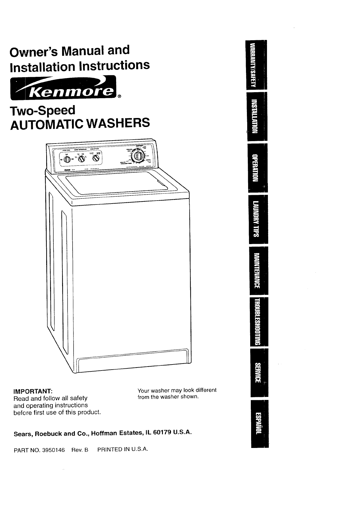 kenmore 11018202790 user manual automatic washer manuals and guides rh usermanual wiki kenmore washer owner manual kenmore washer owner manual