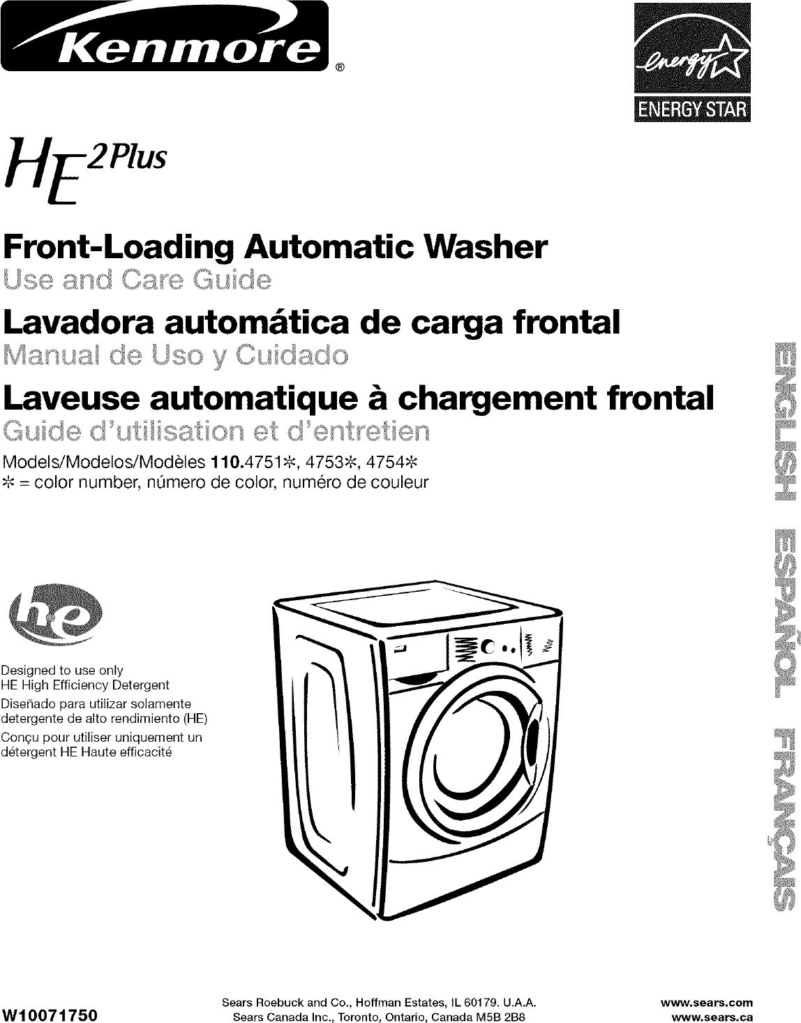 Kenmore 11047512601 User Manual RESIDENTIAL WASHER Manuals And ...