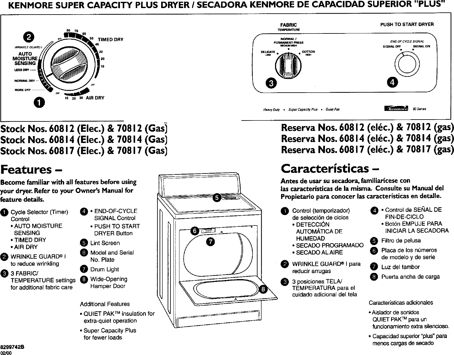 Kenmore 11060812990 User Manual Electric Dryer Manuals And Guides Air Schematic L0050204