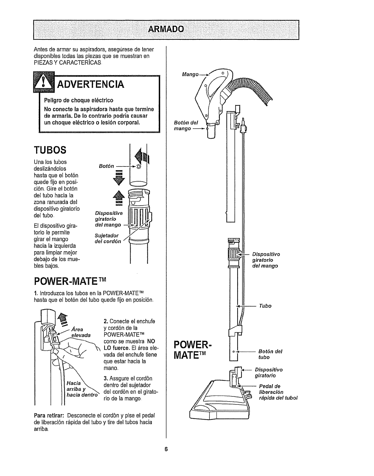 Kenmore 11626412690 User Manual Vacuum Cleaner Manuals And Guides Vada Fuse Box Antes De Armar Su Aspiradora Aseguresede Tener
