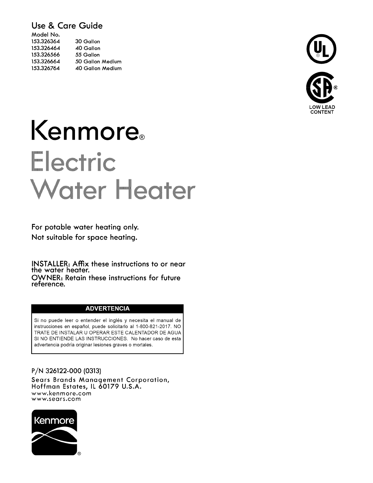 Kenmore 153326364 User Manual WATER HEATER Manuals And ... on water heater lighting, water heater frame, water heater thermostat diagram, water heater exhaust diagram, water heater fuse replacement, water heater controls diagram, water heater radiator diagram, water heater exploded view, water heater electrical schematic, water heater breaker box, water heater repair, water heater ladder diagram, titan water heater diagram, water heater interior diagram, water heater installation, heat pump water heater diagram, water heater transformer, water heater system diagram, water heater vent diagram, water heater cutaway view,