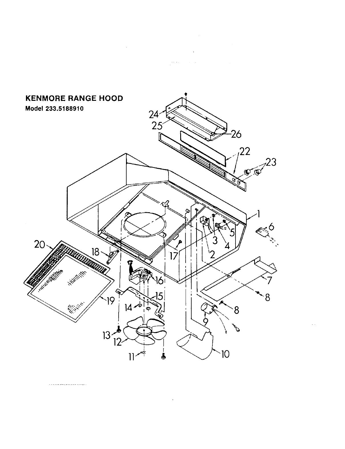 [DIAGRAM_5UK]  Kenmore 23351898 User Manual RANGE HOOD Manuals And Guides L0050008 | Wiring Diagram For A Range Hood |  | UserManual.wiki