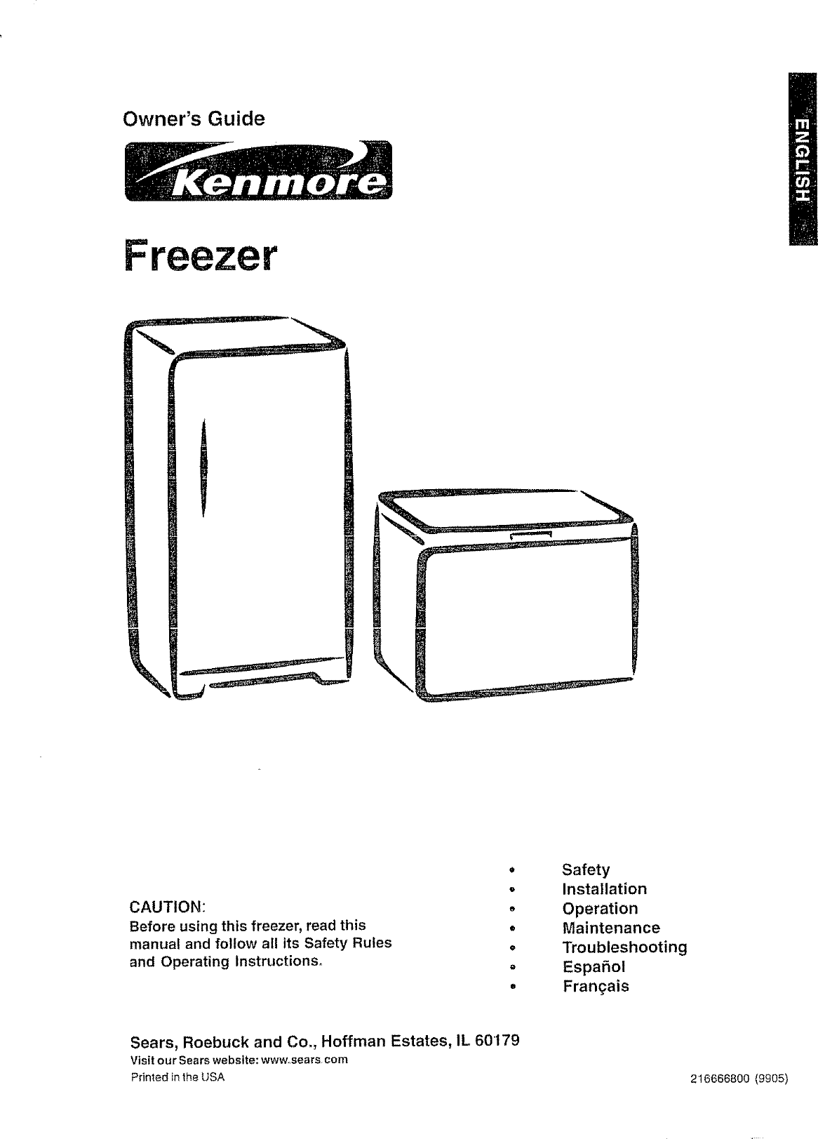 Kenmore 25318331891 User Manual Chest Freezer Manuals And Guides Wiring Diagram Freezerless Refrigerator L0706478