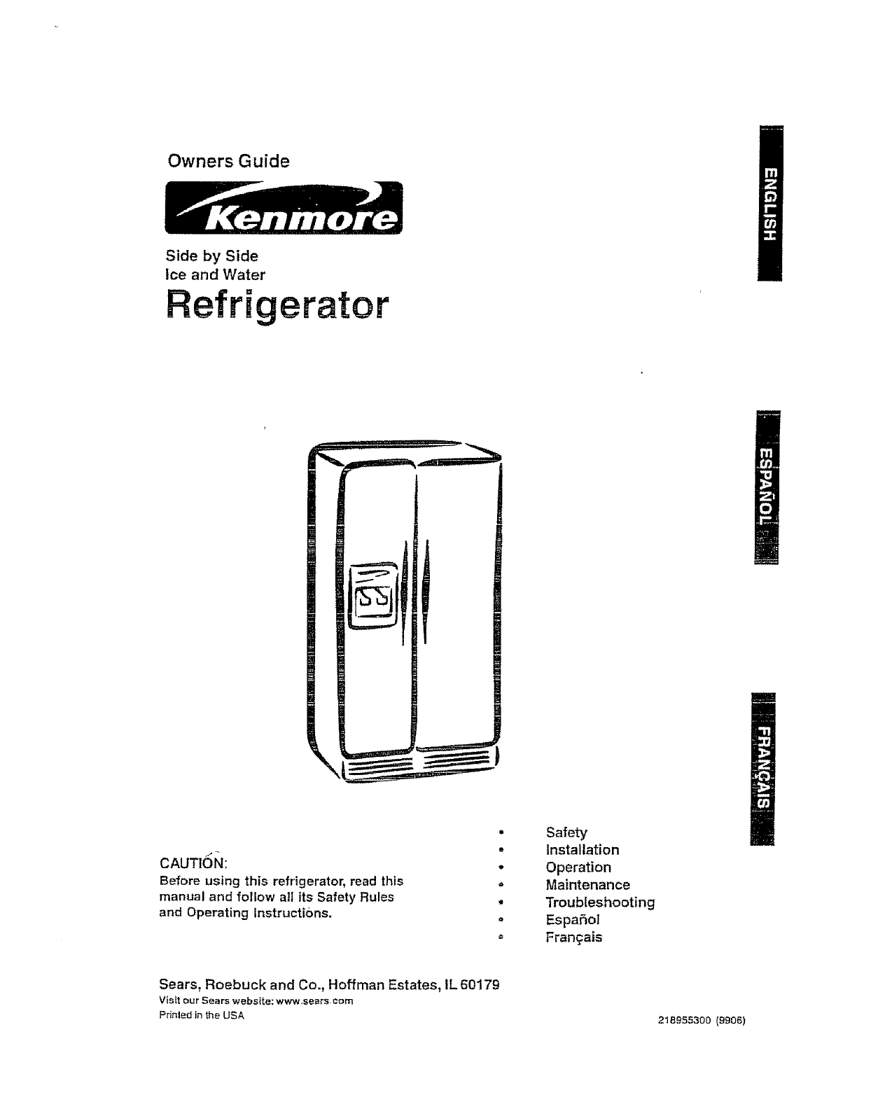 Lovely Kenmore Side by Side Refrigerator Manual