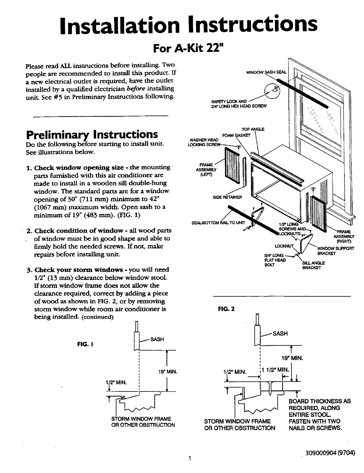 Kenmore 25370094000 User Manual Air Conditioner Manuals And Guides Wiring Diagram L0210187