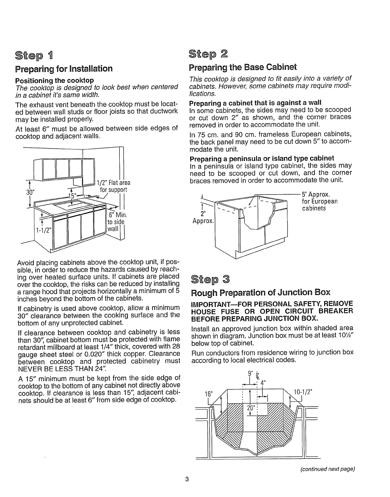 Kenmore 3634272790 User Manual MODULAR COOKTOP Manuals And Guides ...