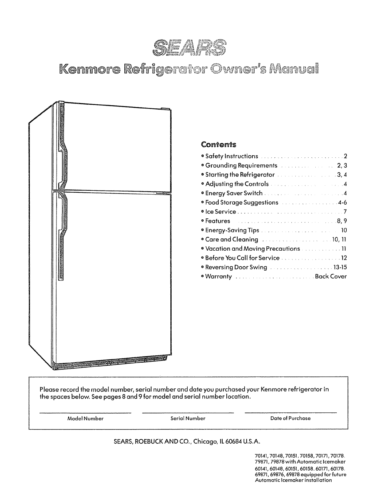 Kenmore 3639601480 User Manual Refrigerator Manuals And Guides L0809458 Sub Zero Ice Maker Wiring Diagram