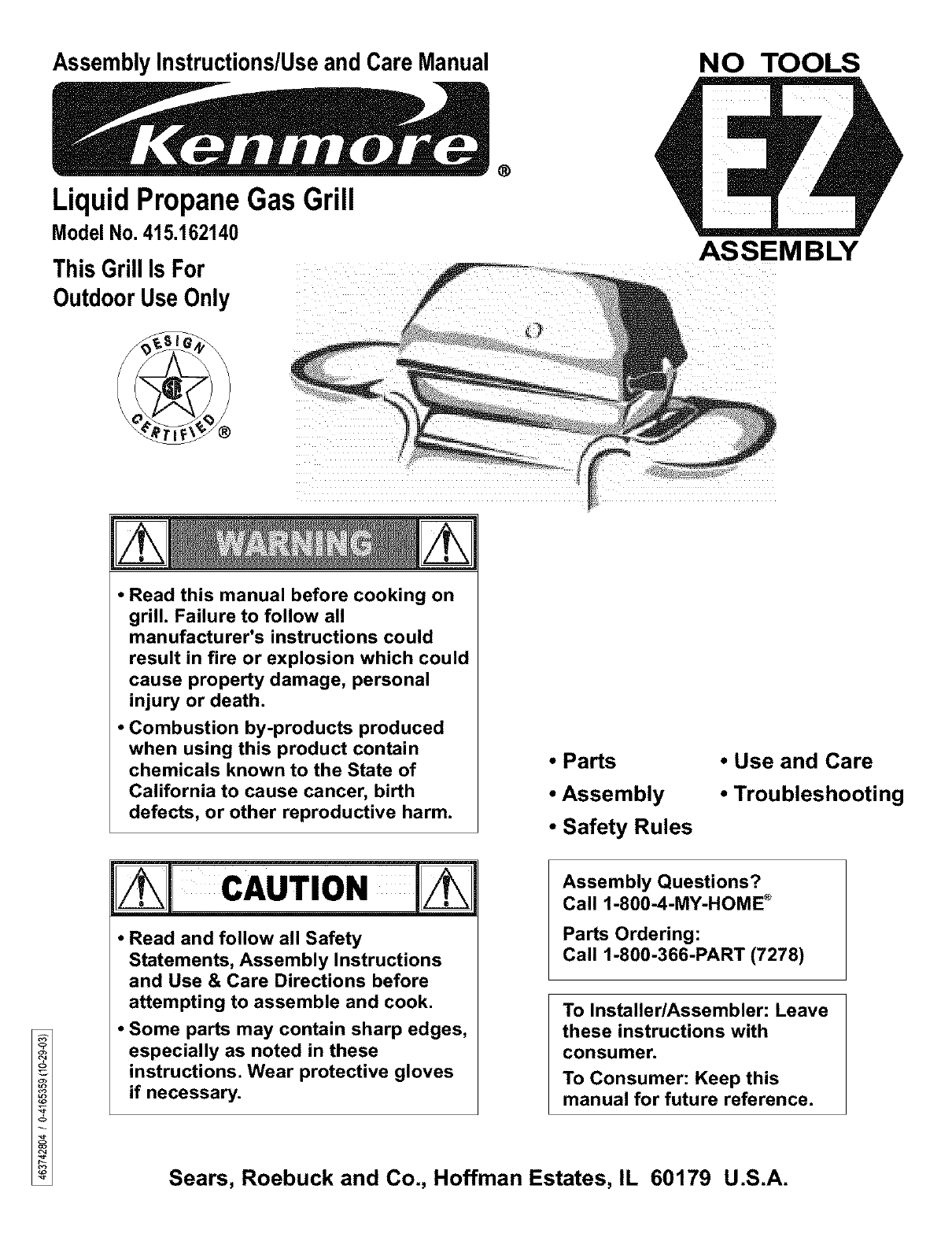 kenmore 415162140 user manual gas grill manuals and guides l0311316 rh usermanual wiki Kenmore Model 790 Electric Range Kenmore Dryer