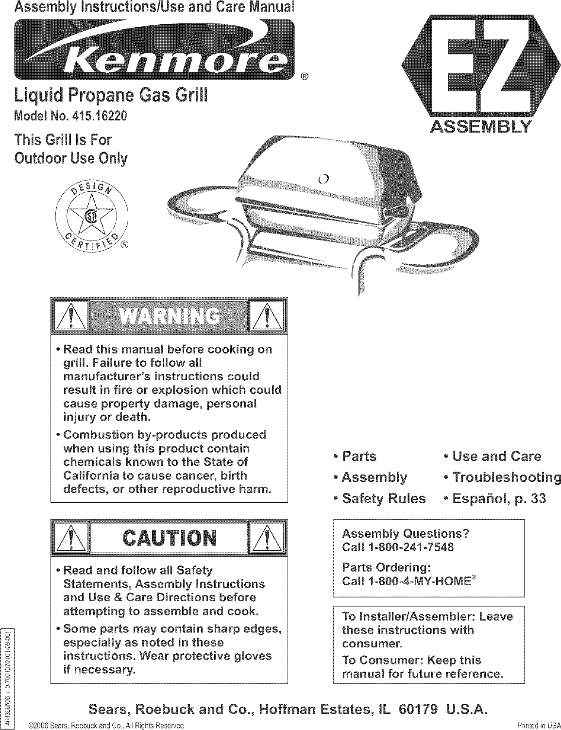 kenmore 41516220 user manual gas grill manuals and guides l0602223 rh usermanual wiki Kenmore Progressive Vacuum Owner's Manual Kenmore Washing Machine Manuals