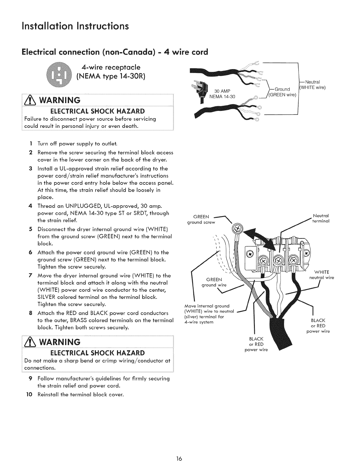 Kenmore 41761722510 User Manual Laundry Center Manuals And Guides Nema 10 30r Wiring Diagram 1503392l