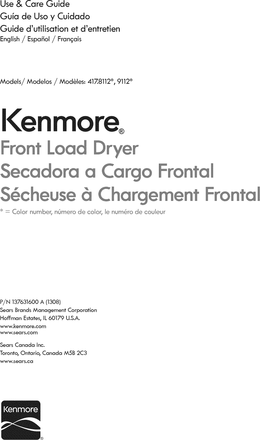 Looking For Kenmore Model 41781122310 Dryer Repair Manual Guide