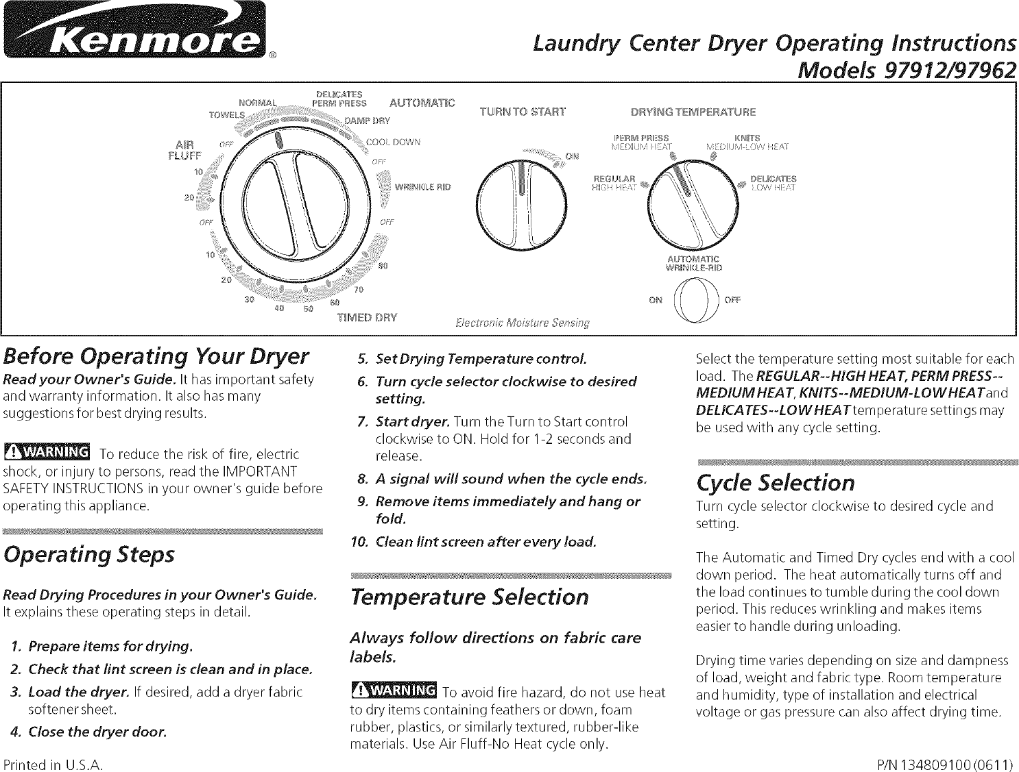 kenmore 41797912701 user manual laundry center manuals and guides l0711517
