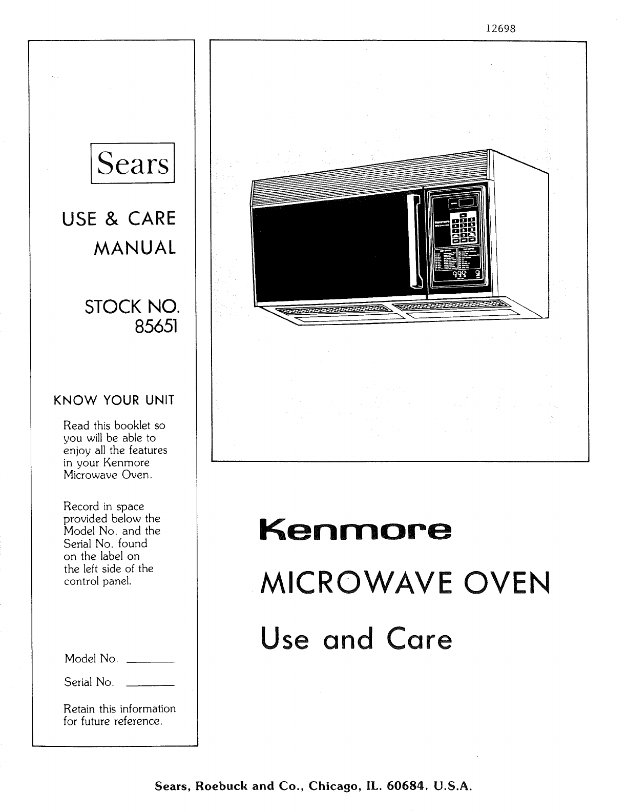 User Manual Microwave Oven Manuals