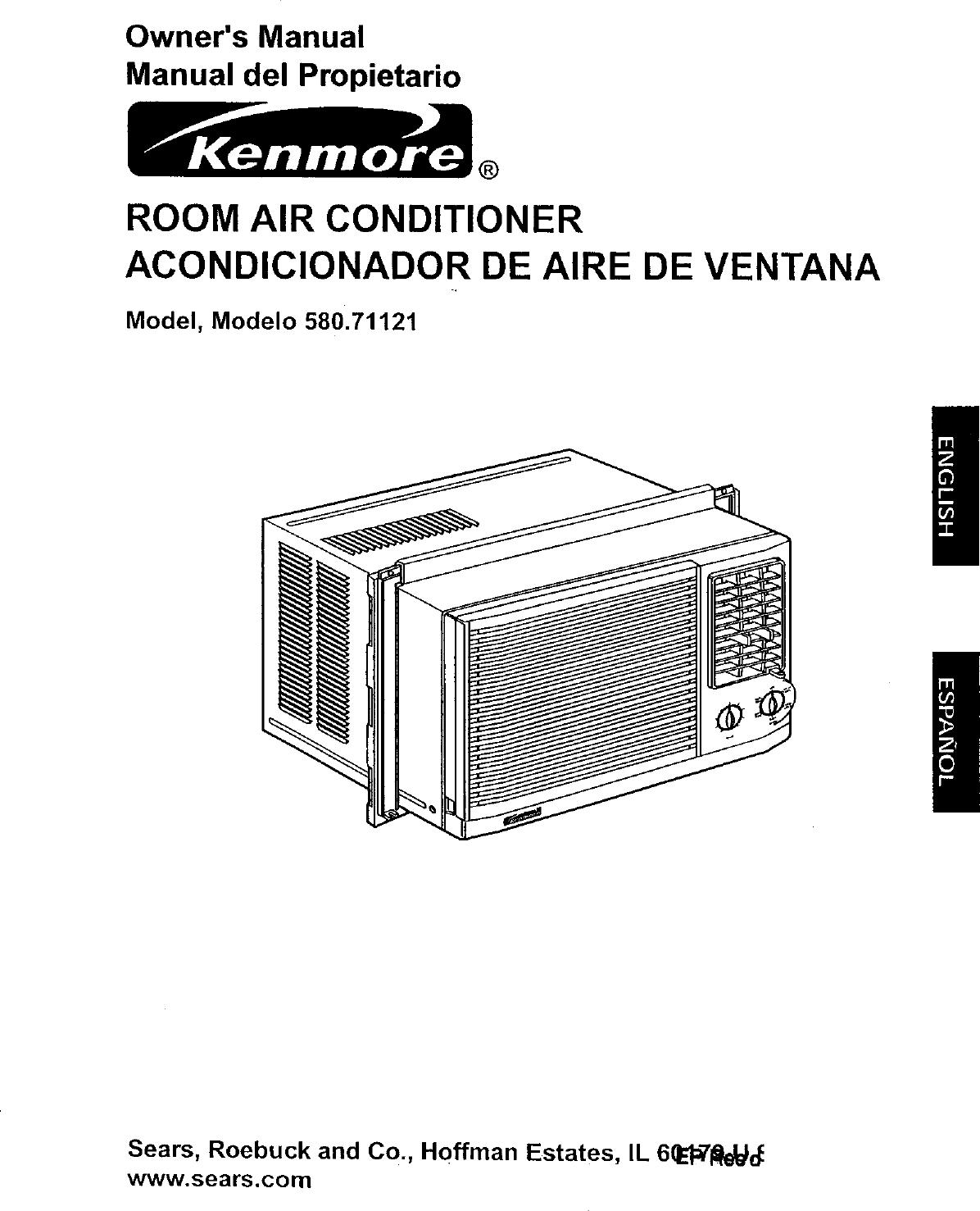 Kenmore 58071121100 User Manual Air Conditioner Manuals