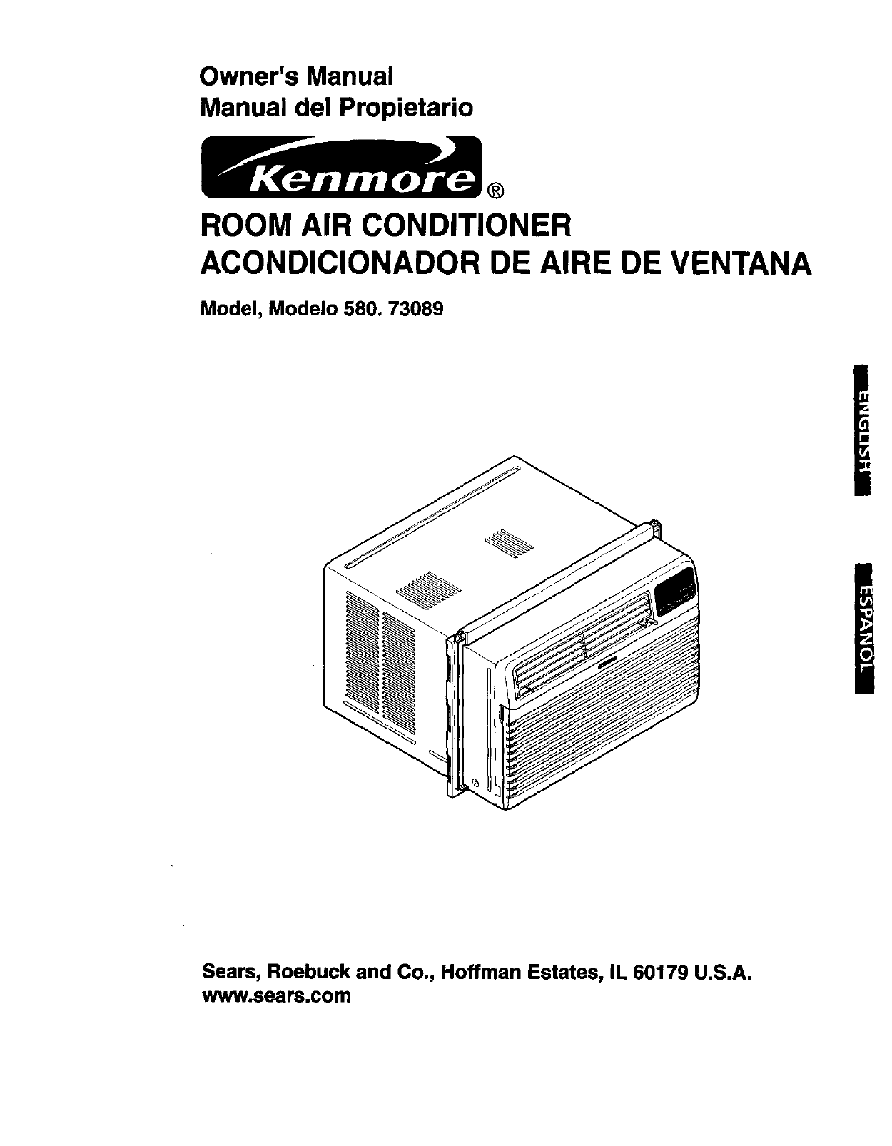 Kenmore 58073089300 User Manual Air Conditioner Manuals And Guides Box Fan Wiring Diagram L0306044