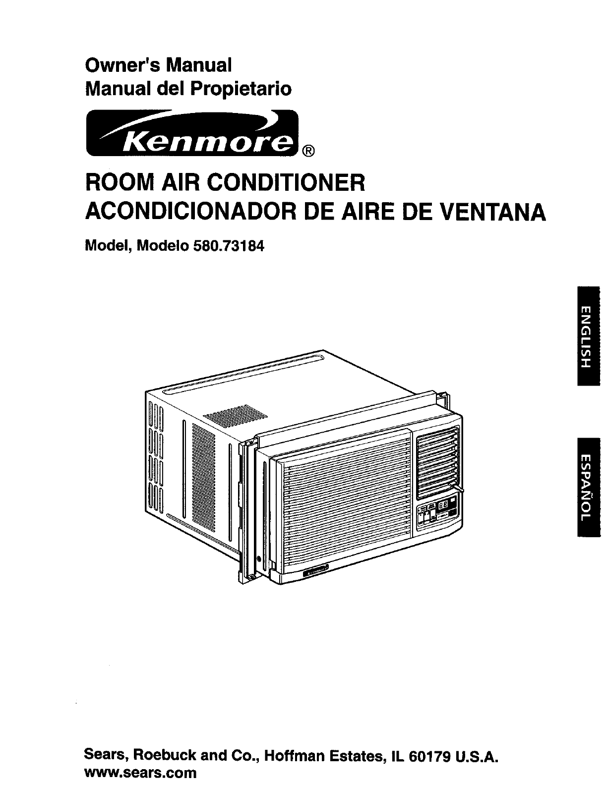 Kenmore 58073184300 User Manual Air Conditioner Manuals And Guides Ceiling Fan Wiring Diagram Sears Roebuck L0306046