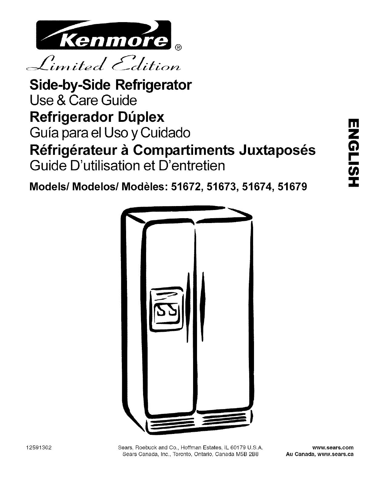 Kenmore machine à glaçons branchement