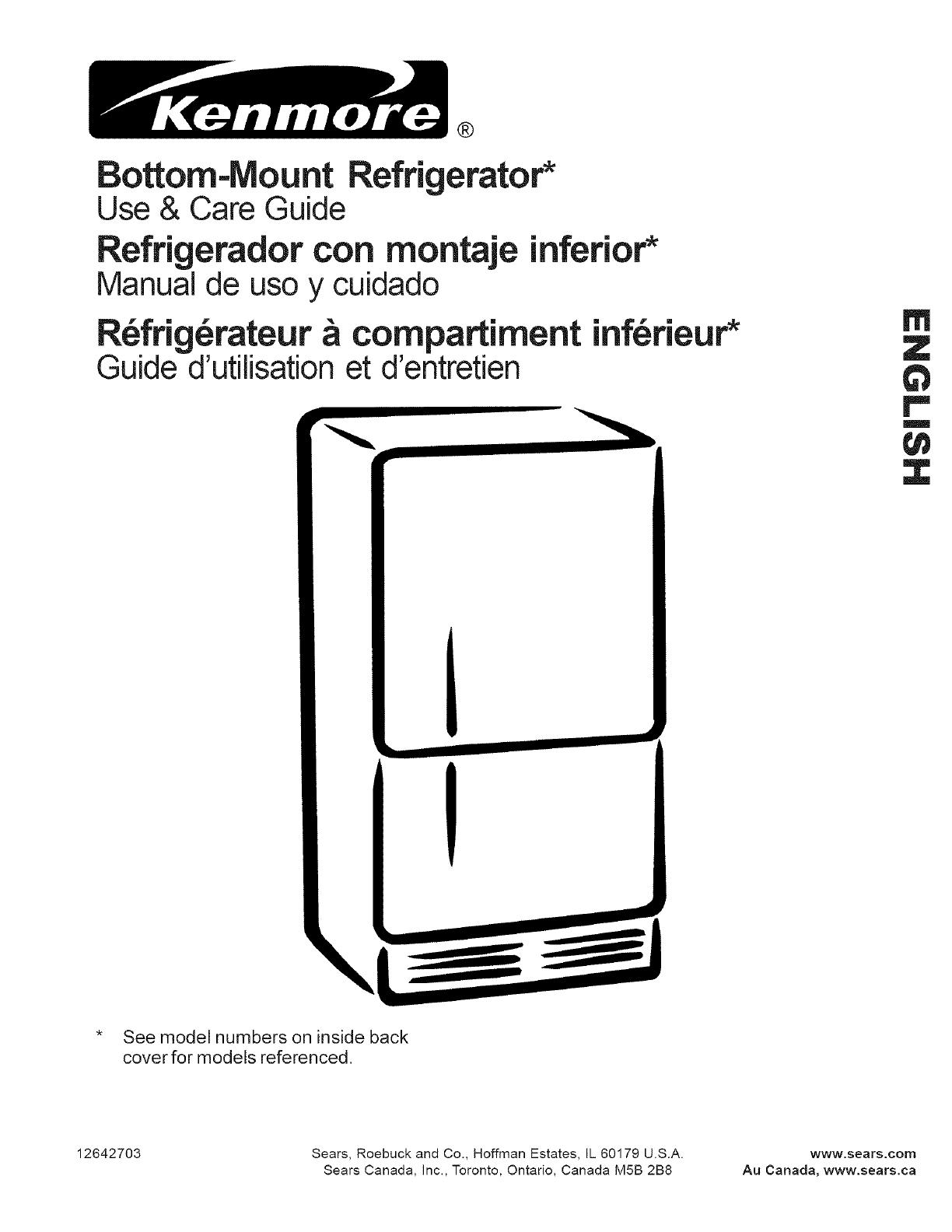 Kenmore 59662232200 User Manual Refrigerator Manuals And Guides L0703106 Conception De Circuits Imprims Bottom Mount