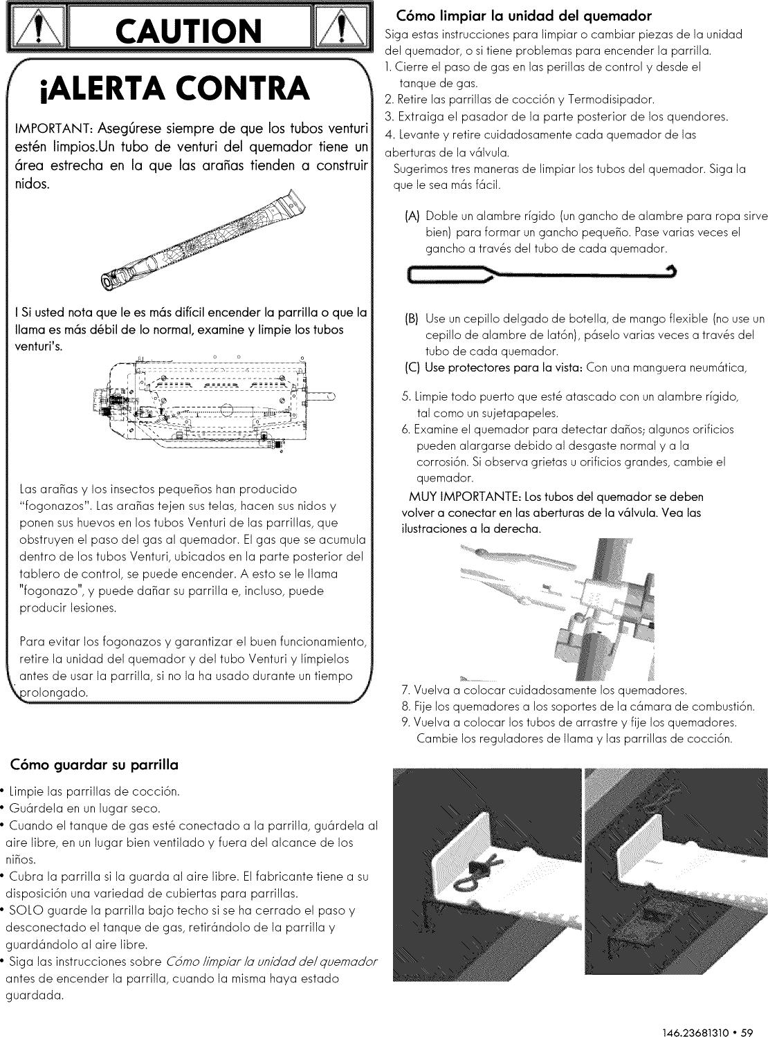 Grill Pro Quemador de Barra Venturi Individual de 38 cm