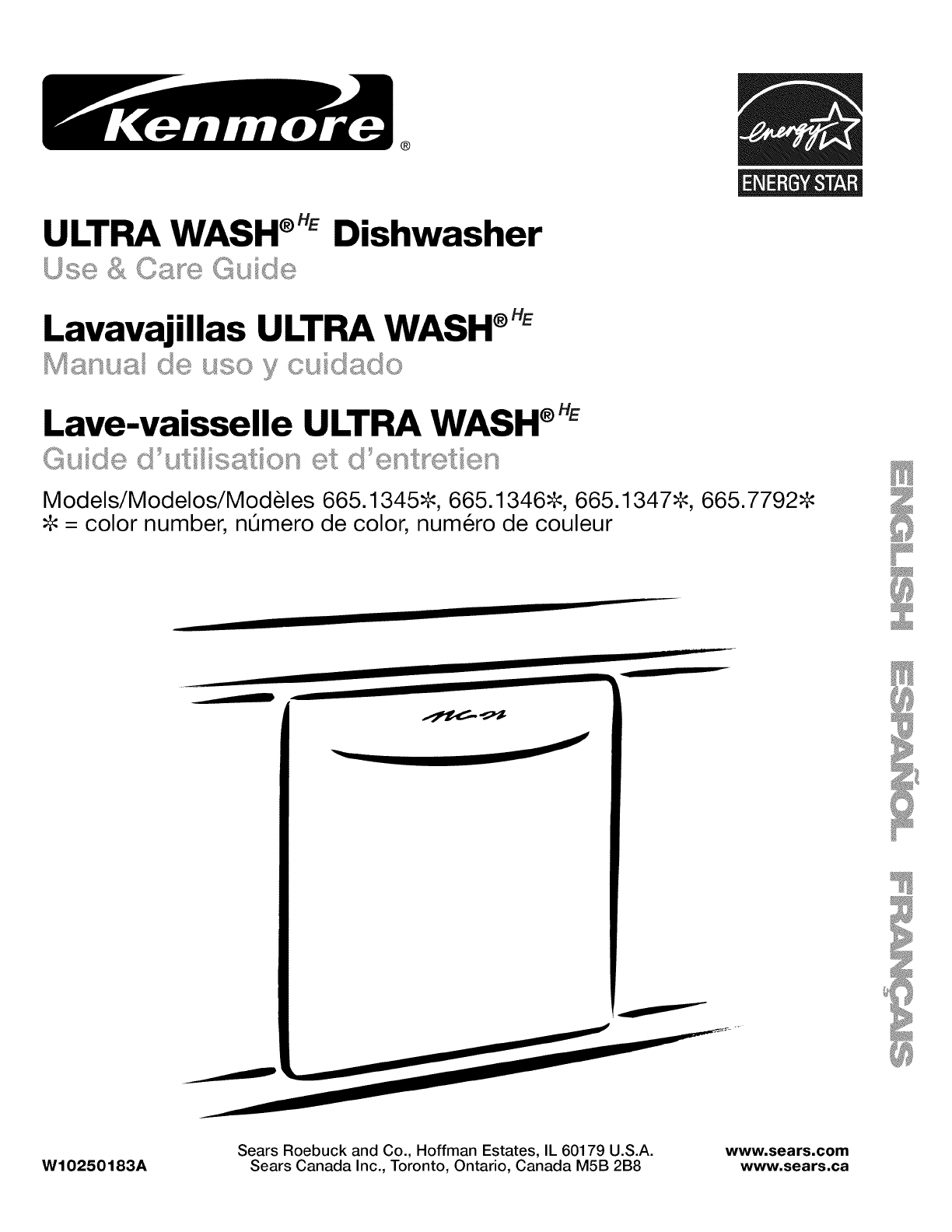 Kenmore 66513452K901 User Manual PORTABLE DISHWASHER Manuals And Guides  L1001107