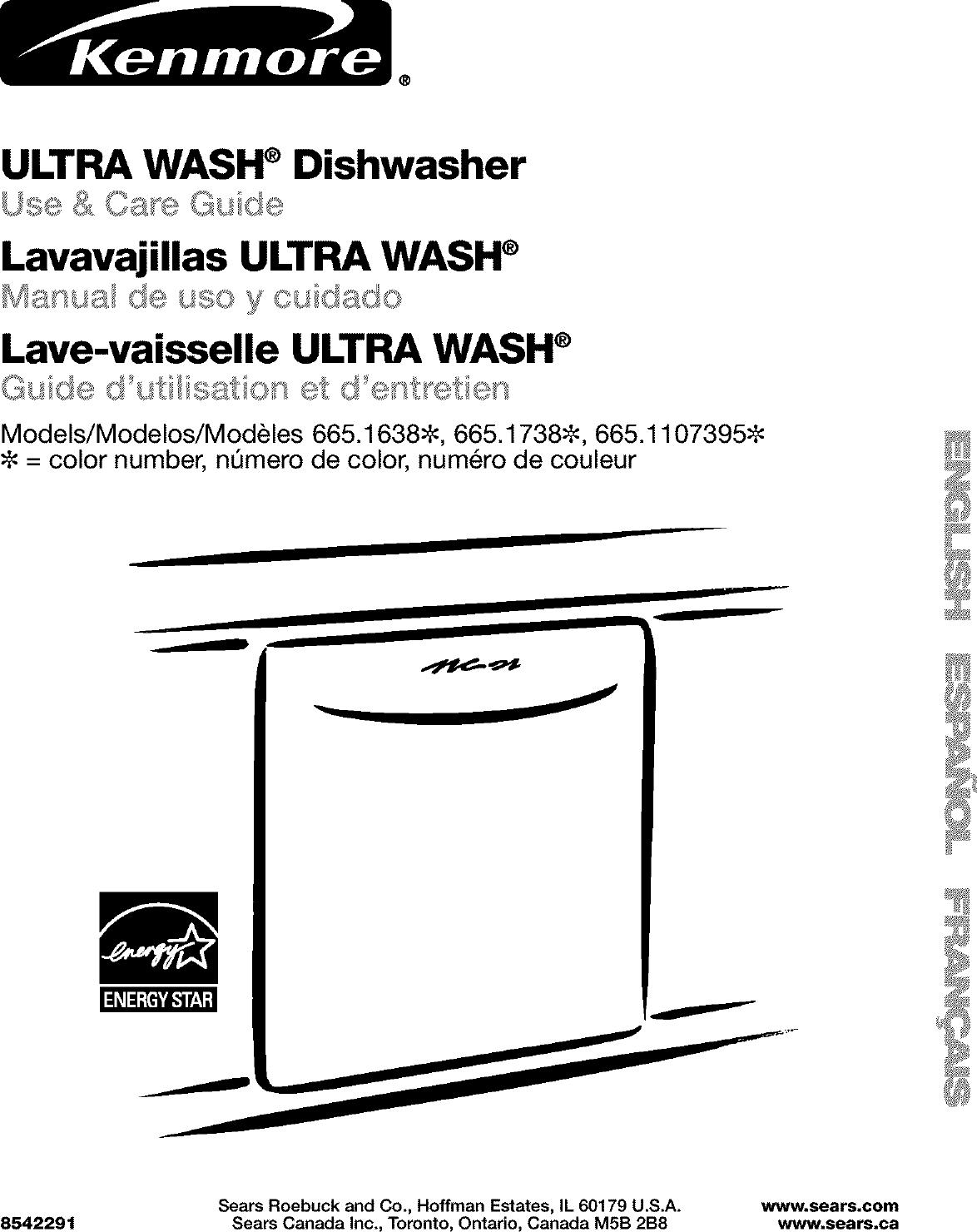lave vaisselle kenmore ultra wash 665 pdf maintenance