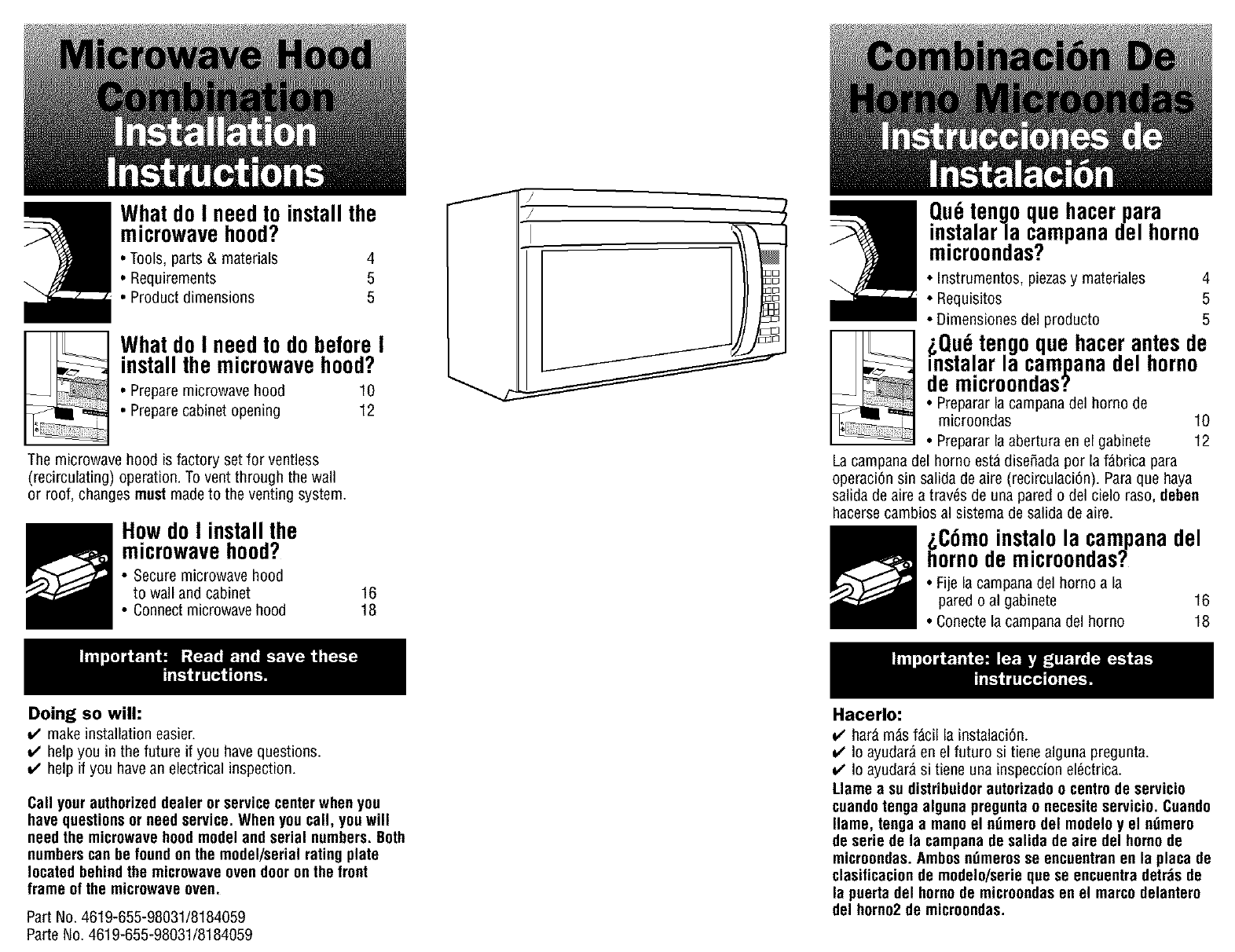 Kenmore 66561652102 User Manual Microwave Hood Combo Manuals And