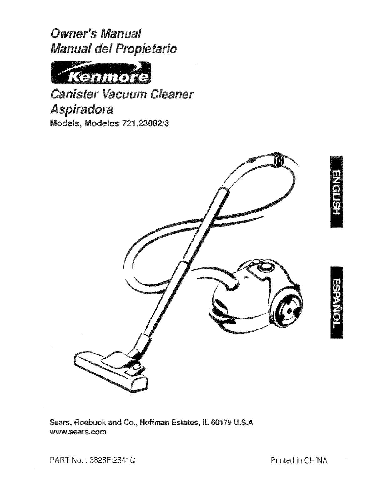 kenmore sears vacuum cleaner manual