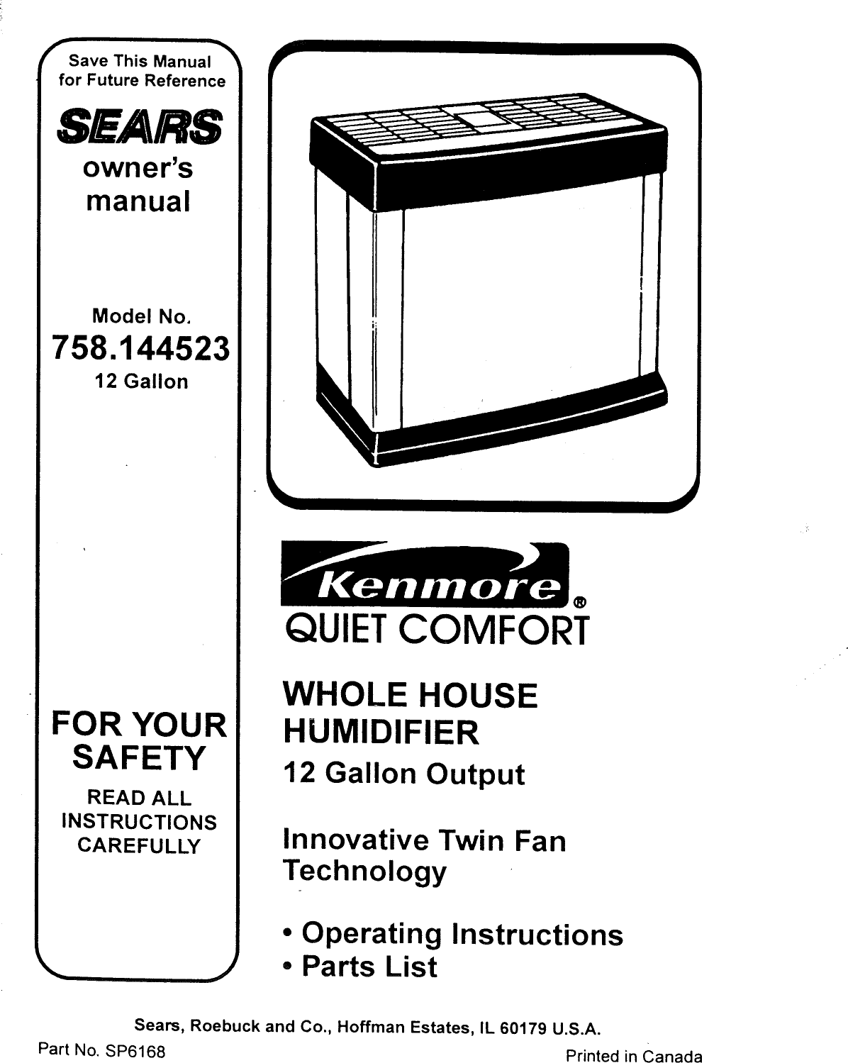 Essick Humidifier Parts Manual Guide