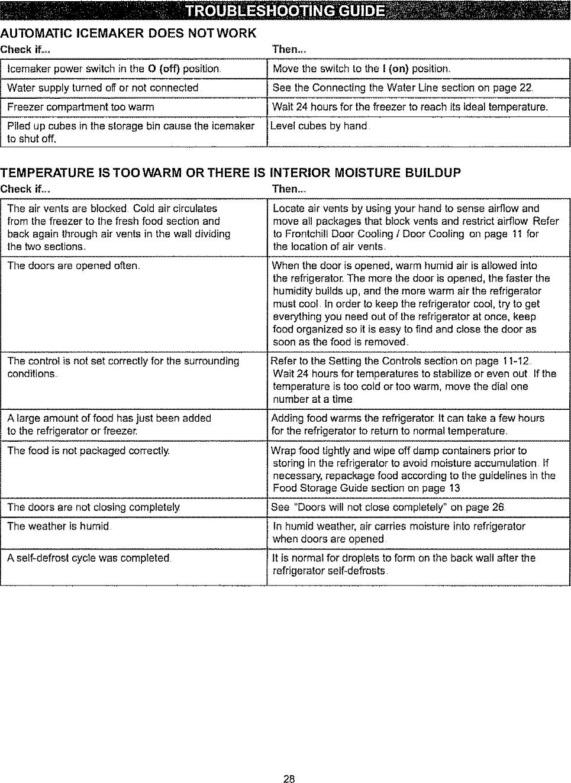 Kenmore 79573262303 User Manual TOP MOUNT REFRIGERATOR