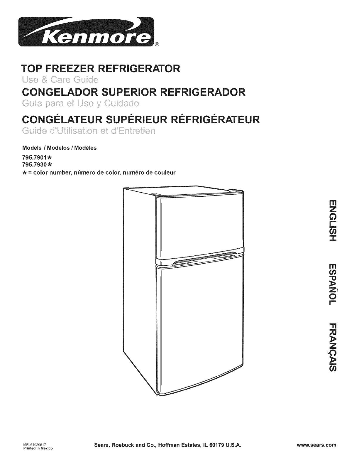 Kenmore Refrigerator Top Freezer Manual - Photos Freezer and Stair