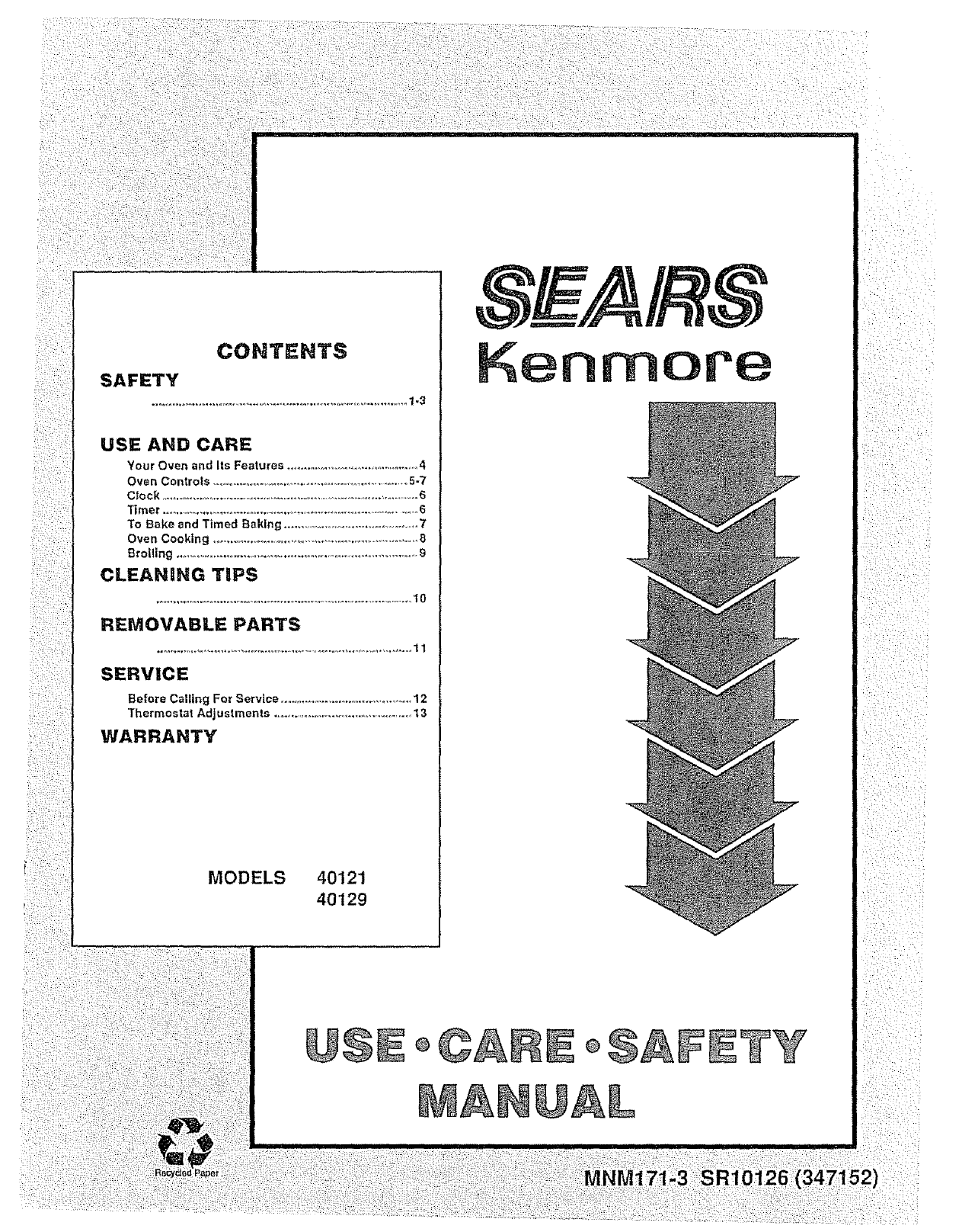 kenmore thermostat user manual