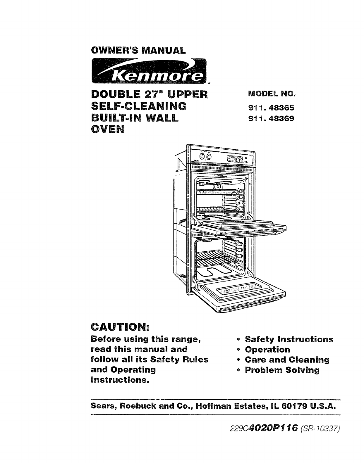 Kenmore 91148365791 User Manual 27 Electric Built In Double Oven Wiring Diagram Sears Manuals And Guides L0902390