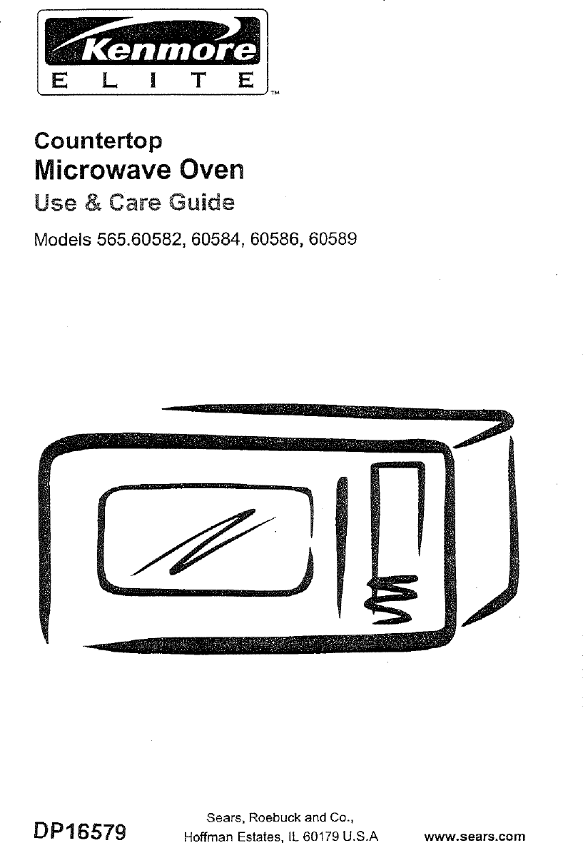 Kenmore 565 60582 Users Manual