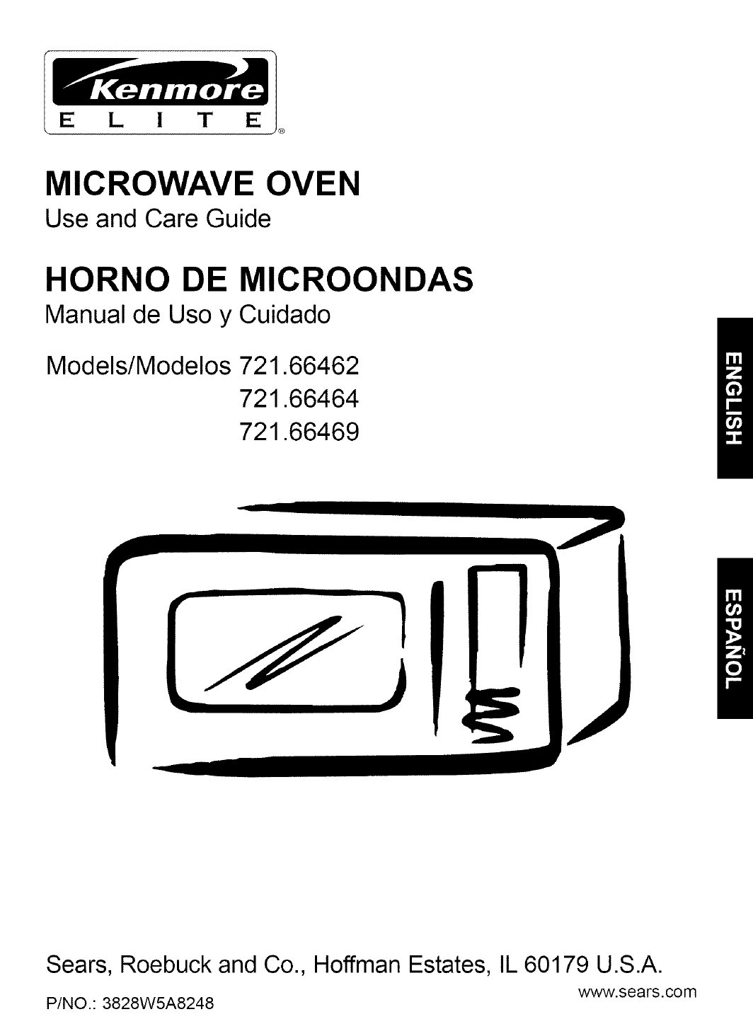 Microwave Trim Kit Installation Kenmore 721 66462 Users Manual