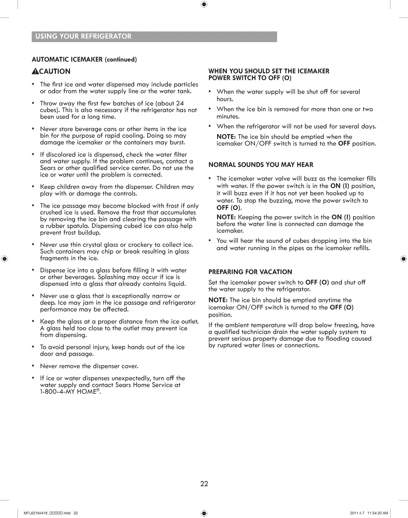 Kenmore 795 7109 Users Manual