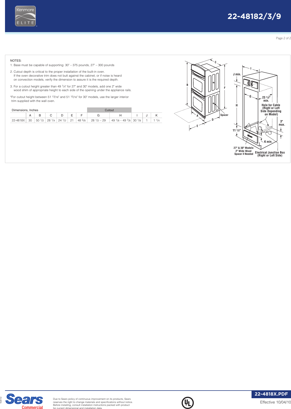 Kenmore Elite Double Wall Oven Installation Instructions Nemetas Built In Wiring 30