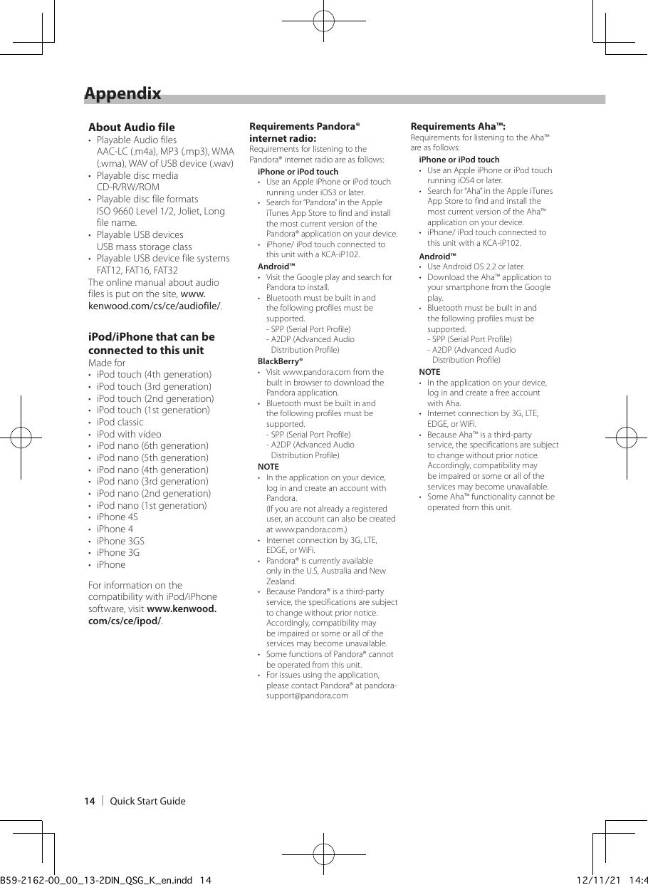 Kenwood DPX500BT User Manual To The F08c3c89 3b72 4e1d aca8