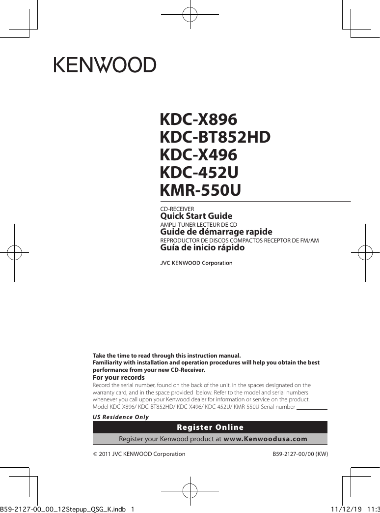 Kenwood Kmr 550u Wiring Diagram Schematic Diagrams Kdc Bt852hd User Manual To The 63174b8d 9113 4367 B83c Marine