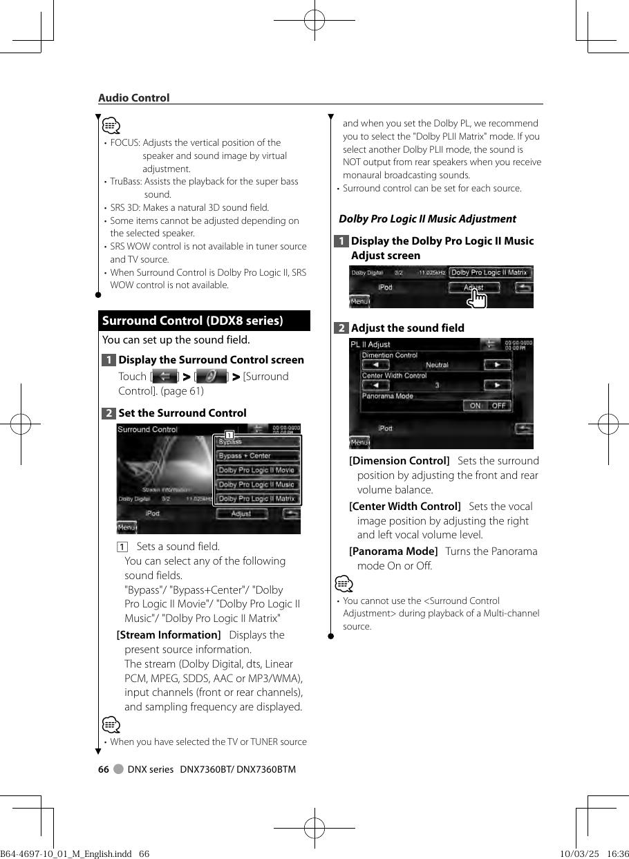 Kenwood Ddx8036Bt Users Manual B64 4697 10_01_M_English